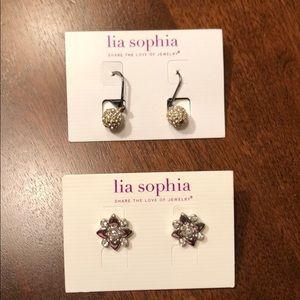 Lia Sophia earrings. 2 pair
